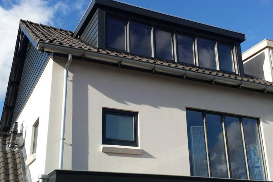 kunststof dakkapel antraciet - Select Windows Bijster Hillegom